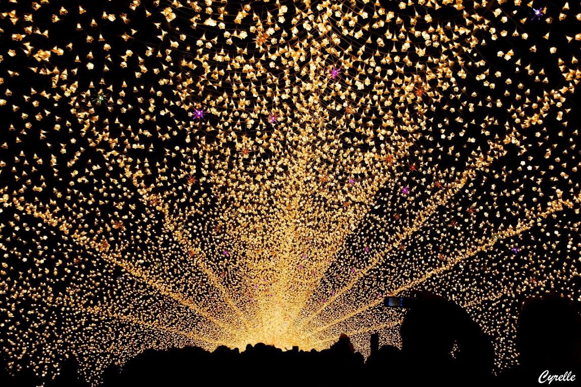 Detalle iluminación en Japón.
